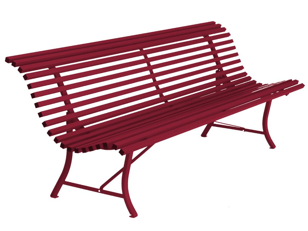 banc de la collection louisiane de fermob de longueur 200 cm disponible en 24 coloris. Black Bedroom Furniture Sets. Home Design Ideas