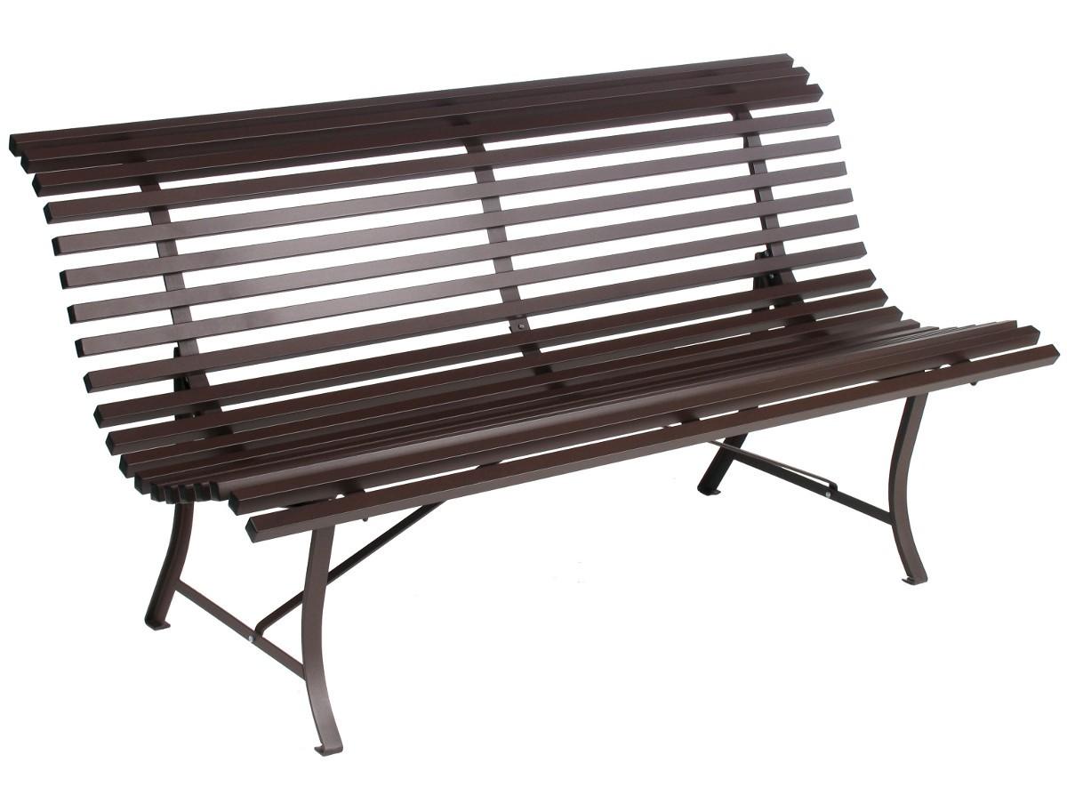 banc louisiane 200 de fermob rouille. Black Bedroom Furniture Sets. Home Design Ideas