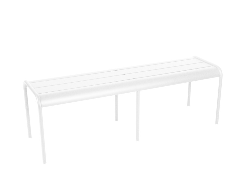 Banc luxembourg de fermob blanc coton - Banc fermob luxembourg ...