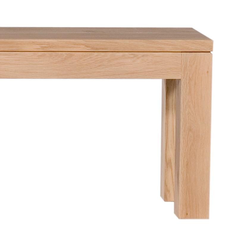 banc straight en ch ne d 39 ethnicraft largeur 180cm. Black Bedroom Furniture Sets. Home Design Ideas