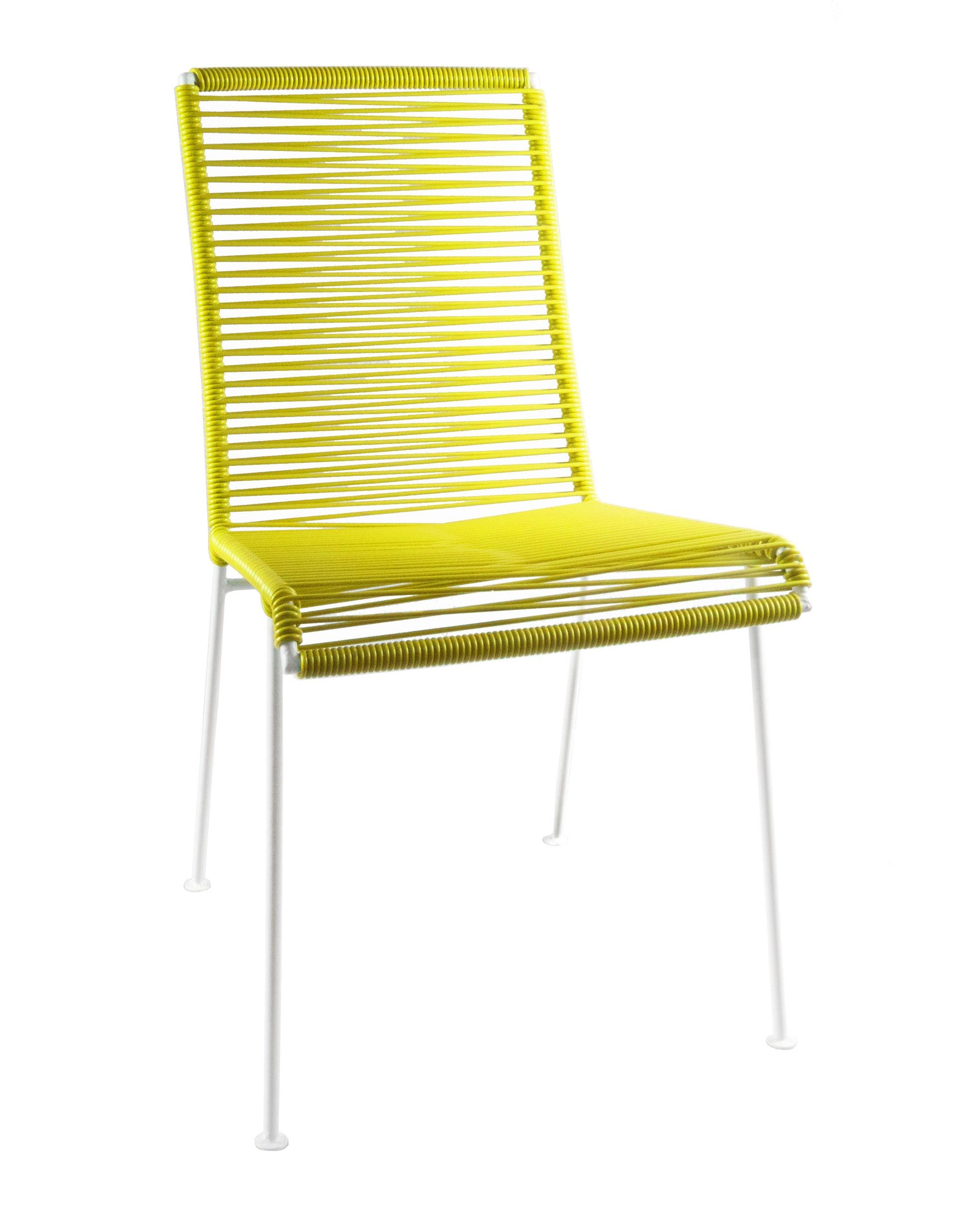 chaise mazunte de boqa avec structure blanche jaune moutarde. Black Bedroom Furniture Sets. Home Design Ideas