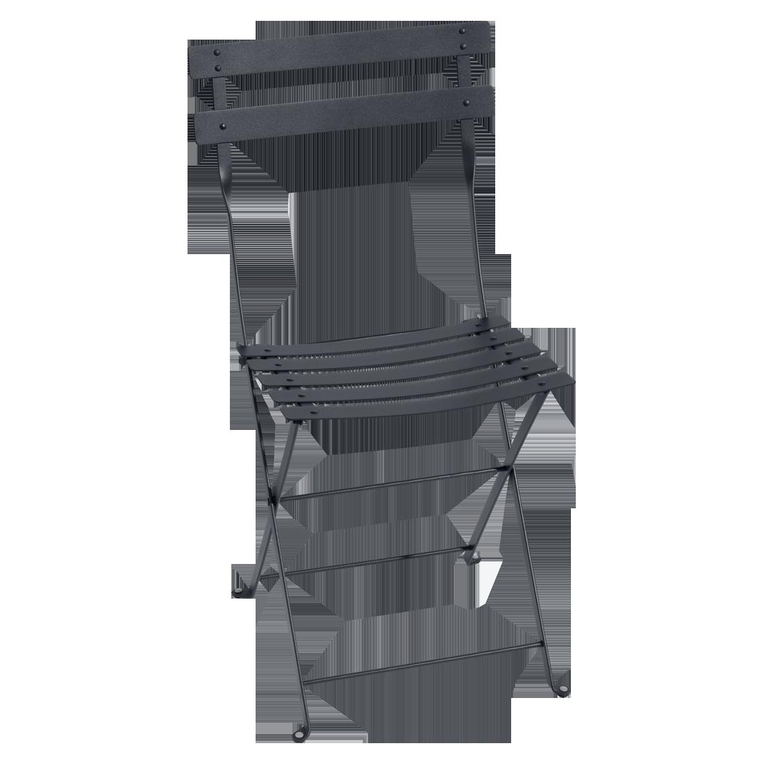 chaise bistro m tal de fermob carbone. Black Bedroom Furniture Sets. Home Design Ideas