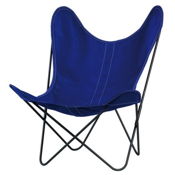 fauteuil aa de airborne structure poxy toile bleu. Black Bedroom Furniture Sets. Home Design Ideas