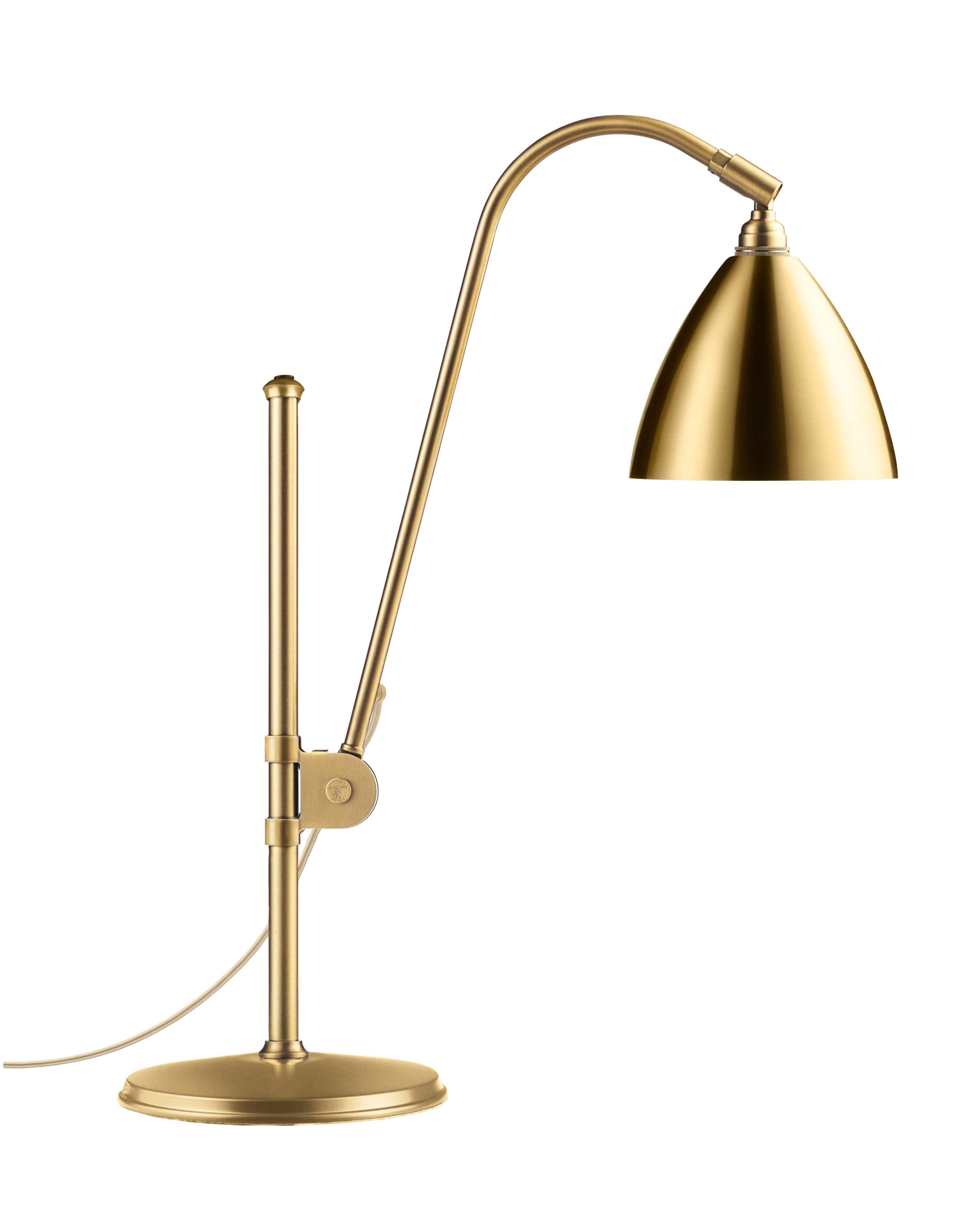 Lampe à poser BESTLITE BL1 de Gubi, Structure laiton, Laiton