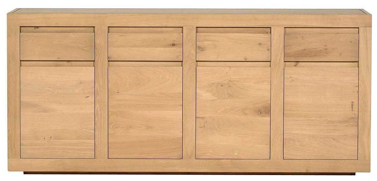 Buffet oak flat d 39 ethnicraft 4 portes 4 tiroirs - Buffet 4 portes 4 tiroirs ...