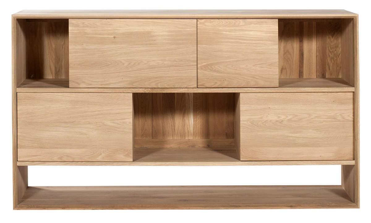 buffet oak nordic d 39 ethnicraft 4 portes coulissantes. Black Bedroom Furniture Sets. Home Design Ideas