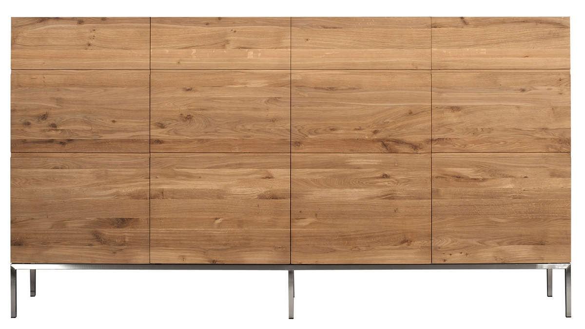 buffet haut oak ligna d 39 ethnicraft 4 portes. Black Bedroom Furniture Sets. Home Design Ideas