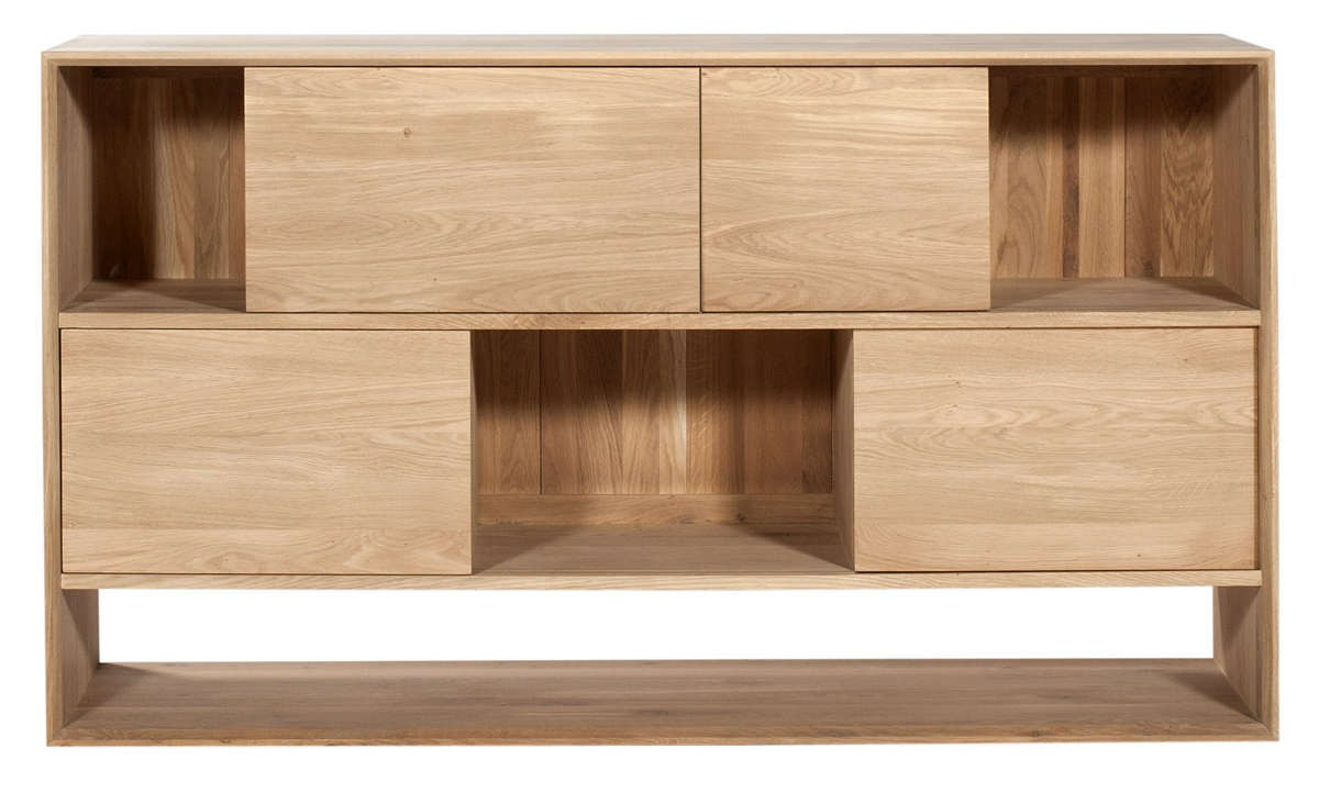 buffet oak nordic d 39 ethnicraft 4 portes coulissantes On buffet ethnicraft