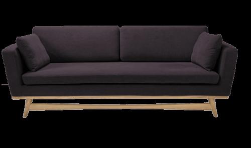 canape 210 de red edition tissu coton prune. Black Bedroom Furniture Sets. Home Design Ideas