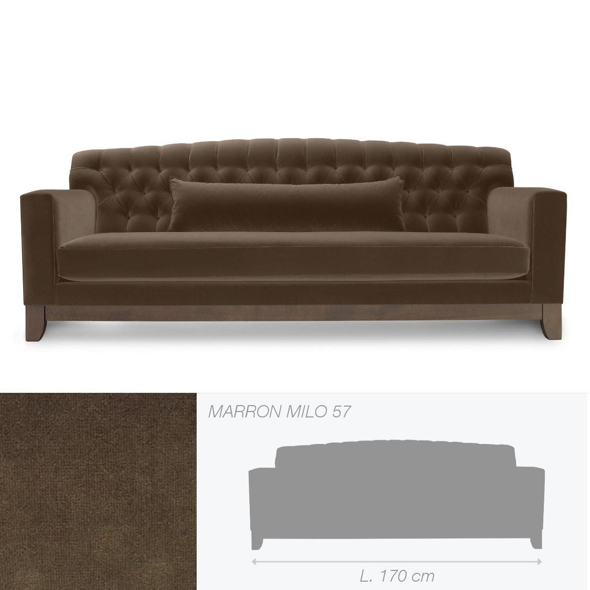 canap capitonn hollywood de marie 39 s corner 2 places marron. Black Bedroom Furniture Sets. Home Design Ideas