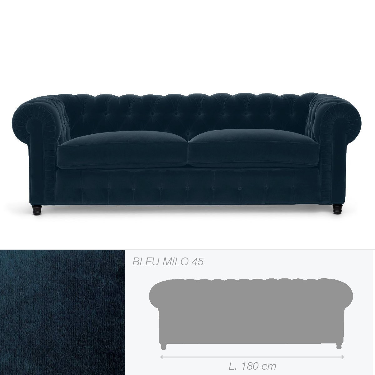 canap club house de marie 39 s corner 2 places bleu. Black Bedroom Furniture Sets. Home Design Ideas