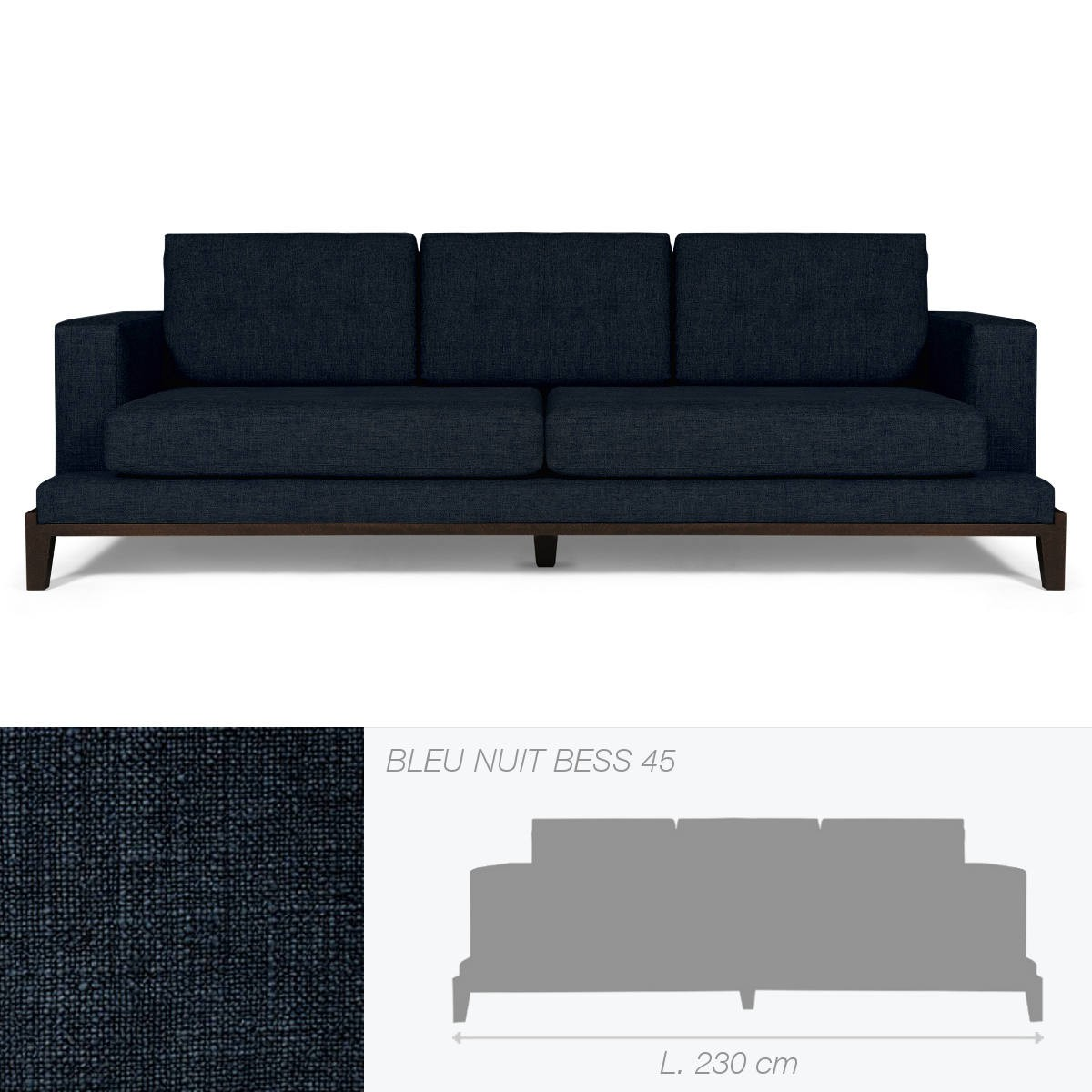 canap oakland de marie 39 s corner bleu nuit. Black Bedroom Furniture Sets. Home Design Ideas