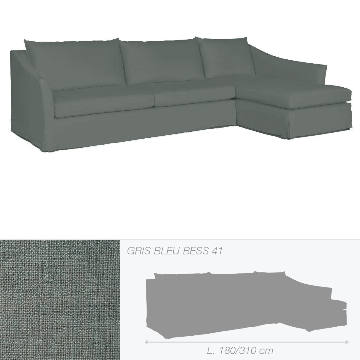 canap washington de marie 39 s corner gris bleu. Black Bedroom Furniture Sets. Home Design Ideas