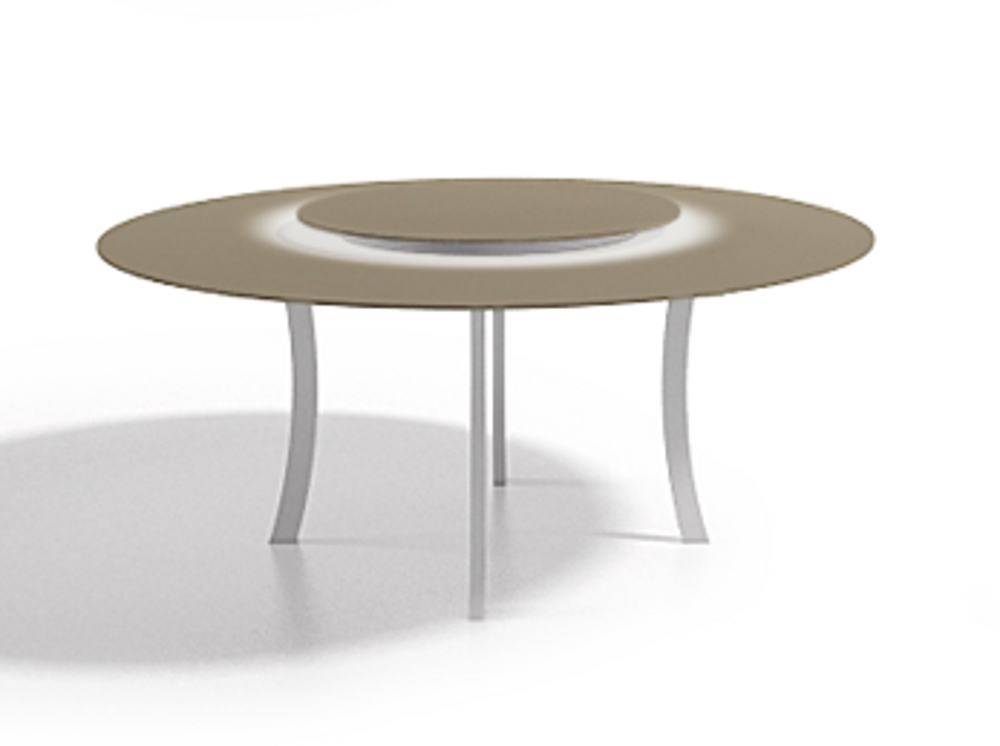 Table a manger ronde blanche maison design for Table a manger ronde blanche