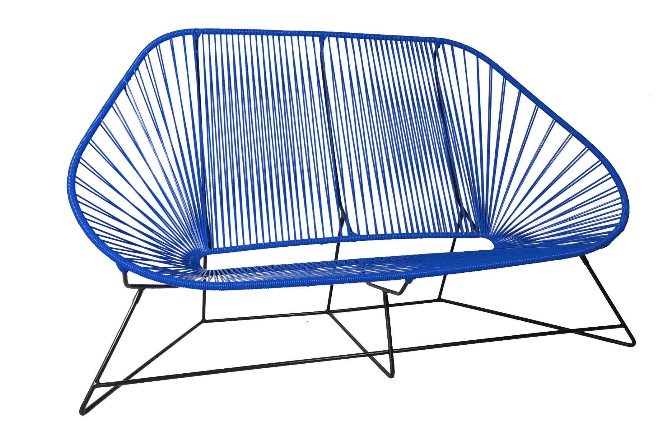 canap 3 places acapulco de boqa bleu nuit. Black Bedroom Furniture Sets. Home Design Ideas