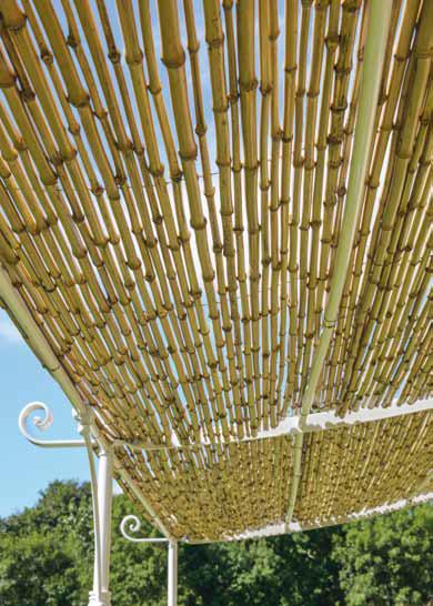 Pergola Solaire Adoss E Courb E De Unopiu 39 X Couverture En Cannes De Bambou