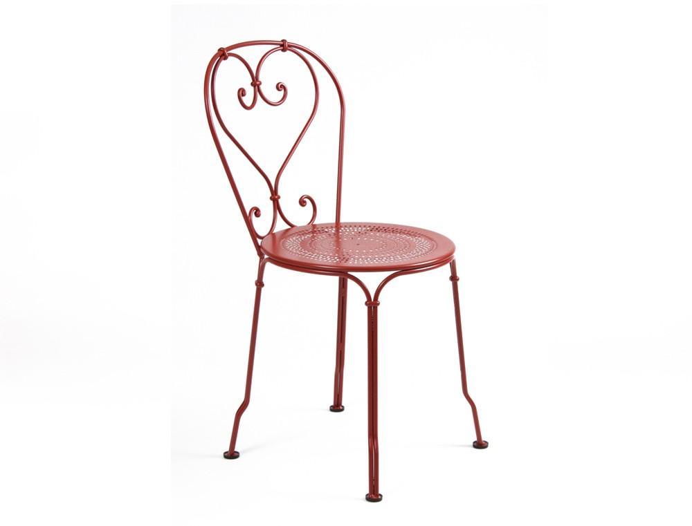 Chaise 1900 de fermob coquelicot - Chaise de jardin fermob ...