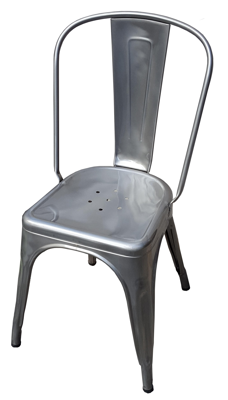 chaise a de tolix acier brut 3 finitions. Black Bedroom Furniture Sets. Home Design Ideas