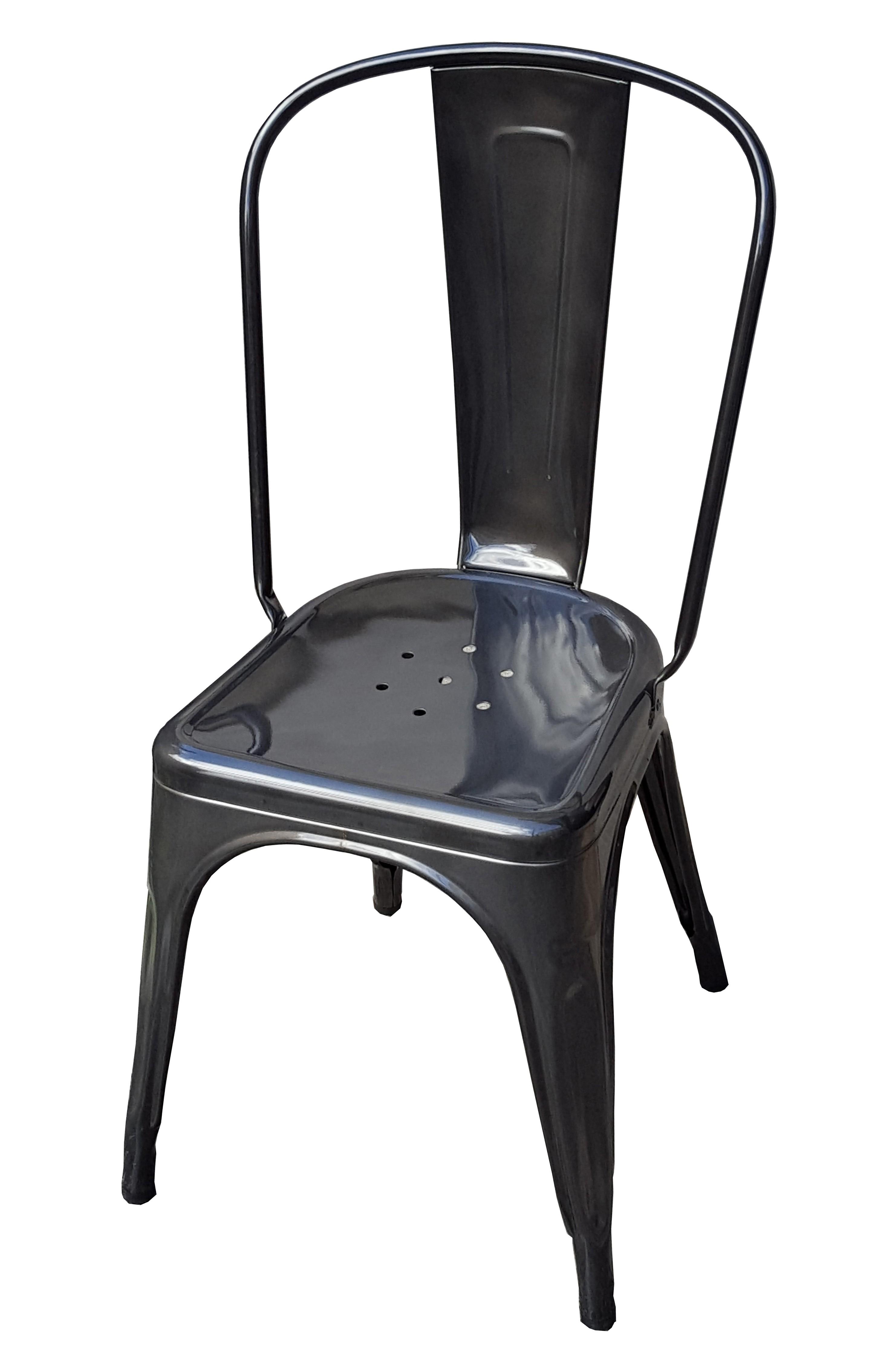 chaise a de tolix acier brut verni janvier 1. Black Bedroom Furniture Sets. Home Design Ideas