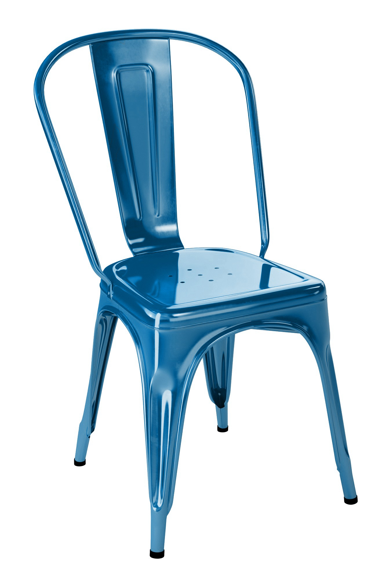 chaise a de tolix acier laqu 11 coloris. Black Bedroom Furniture Sets. Home Design Ideas