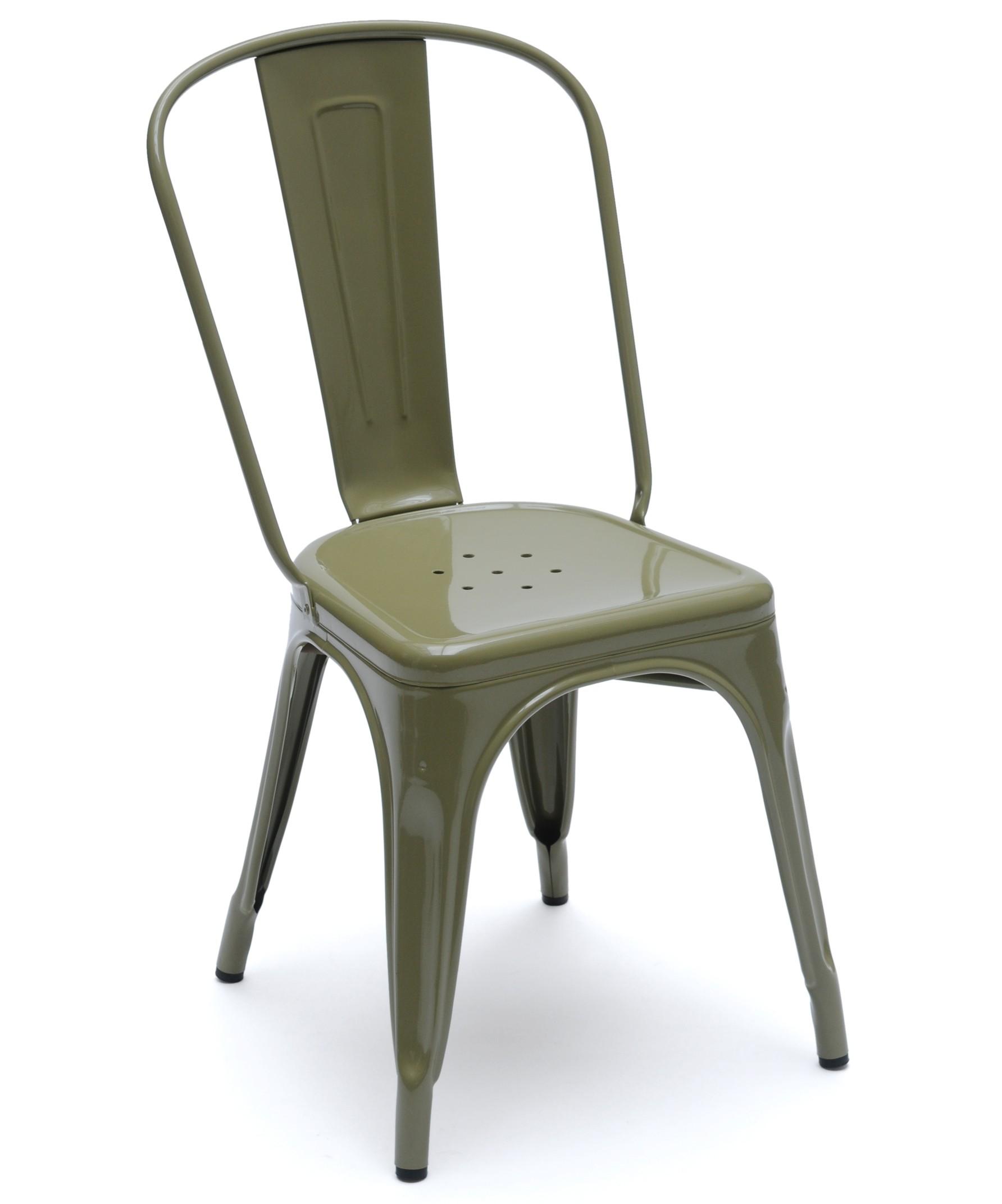chaise a de tolix acier laqu 8 coloris. Black Bedroom Furniture Sets. Home Design Ideas