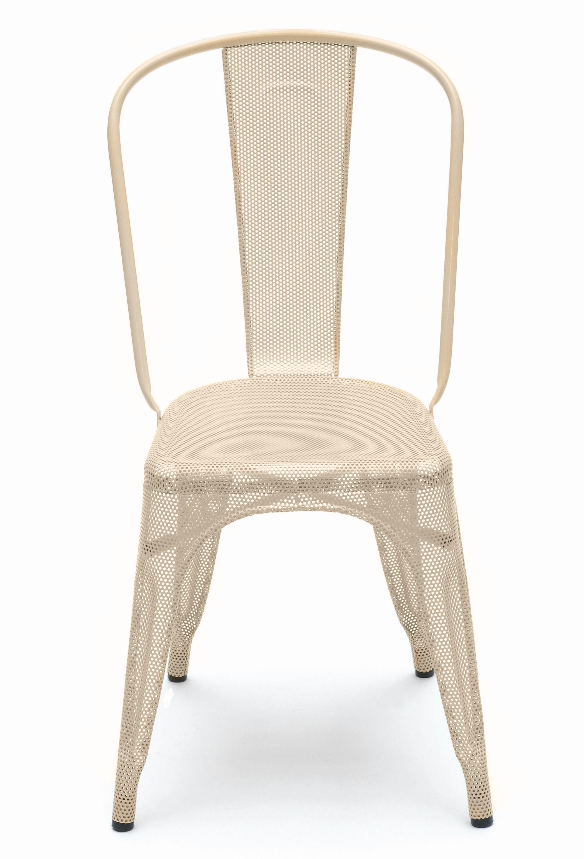 Chaise a perfor e de tolix inox laqu ivoire - Chaise blanc d ivoire ...
