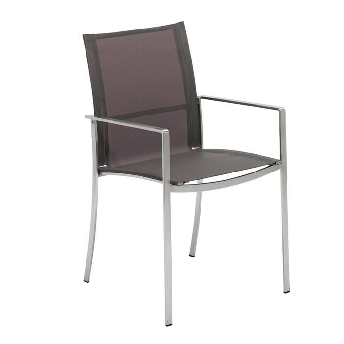 chaise acier avec accoudoirs fusion de gloster 3 coloris - Chaise Acier