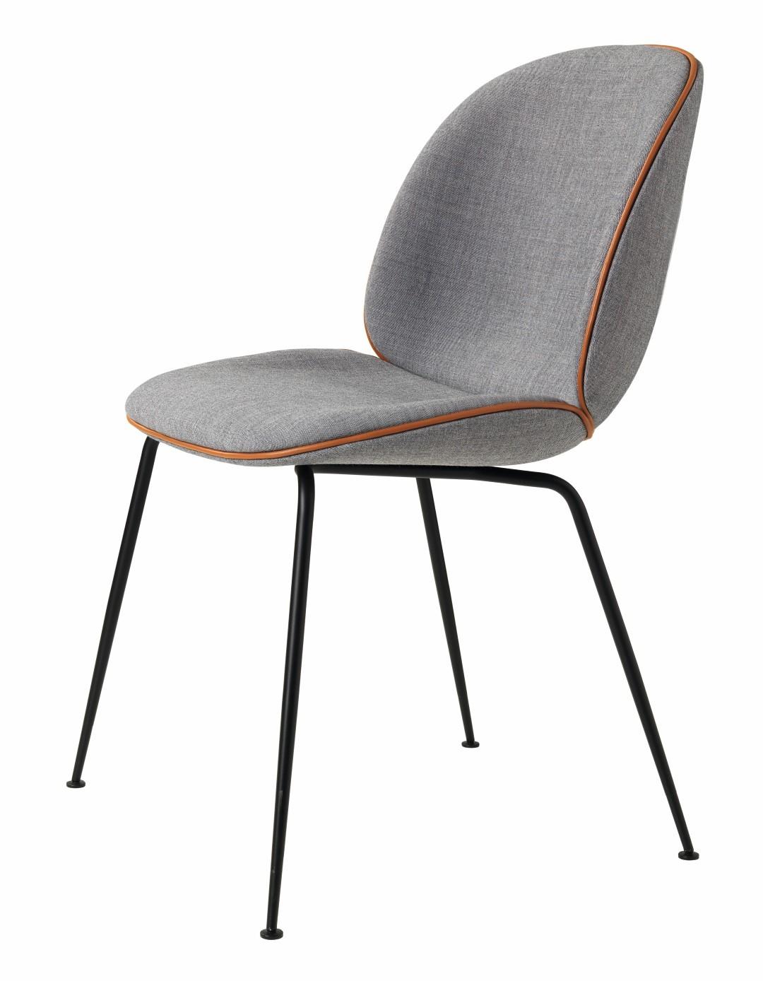 Chaise BEETLE Fully Upholstered Avec Pieds Noir De Gubi 3 Coloris