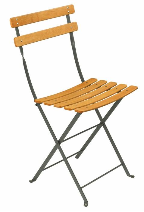 Chaise bistro naturel bois de fermob gris orage - Chaise bois gris ...