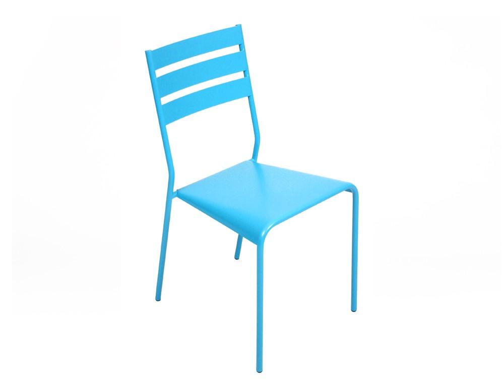 chaise facto de fermob bleu turquoise. Black Bedroom Furniture Sets. Home Design Ideas