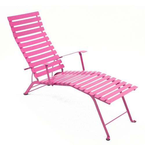 Chaise longue pliante bistro de fermob fushia for Chaise longue rose fushia