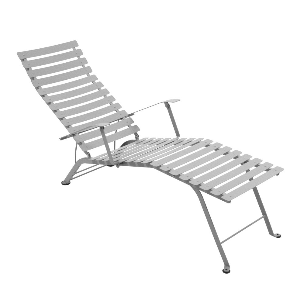 chaise longue pliante bistro de fermob gris m tal. Black Bedroom Furniture Sets. Home Design Ideas