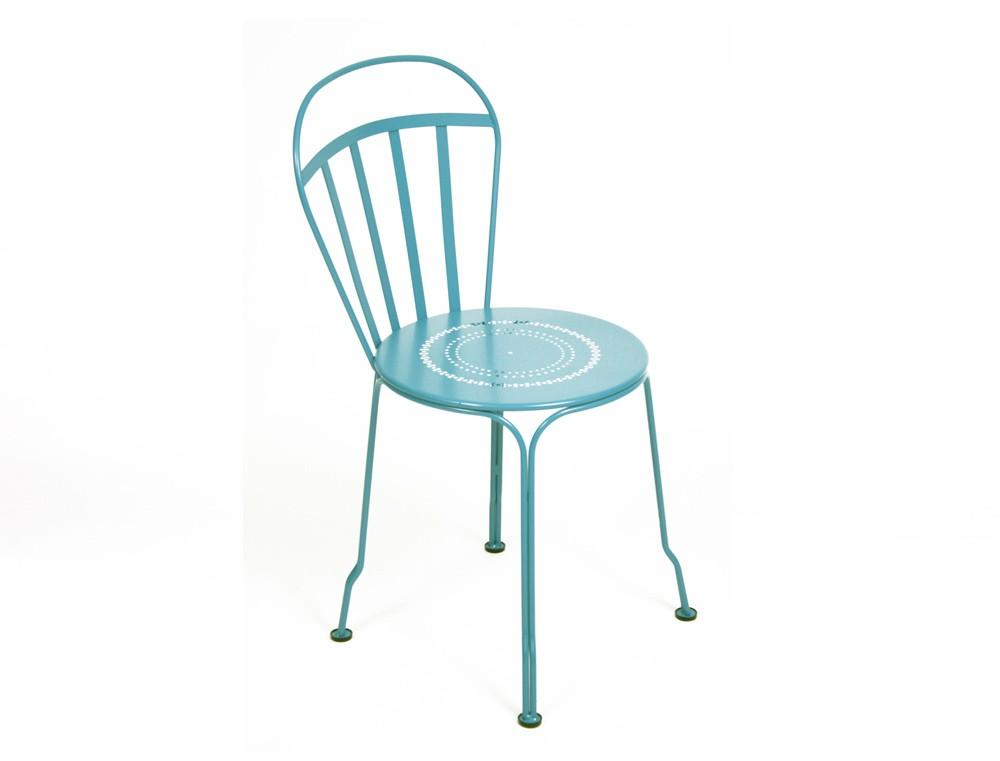 chaise louvre de fermob bleu turquoise. Black Bedroom Furniture Sets. Home Design Ideas