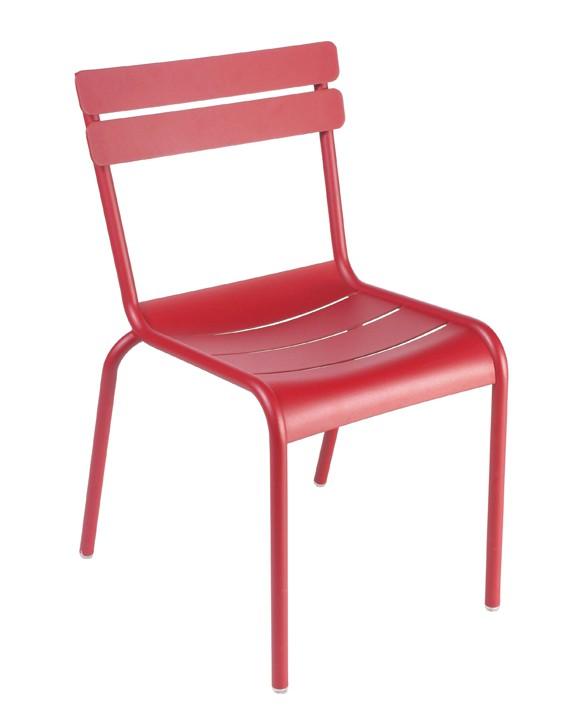 chaise luxembourg de fermob piment. Black Bedroom Furniture Sets. Home Design Ideas