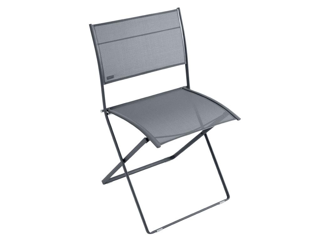 chaise pliante plein air de fermob carbone. Black Bedroom Furniture Sets. Home Design Ideas