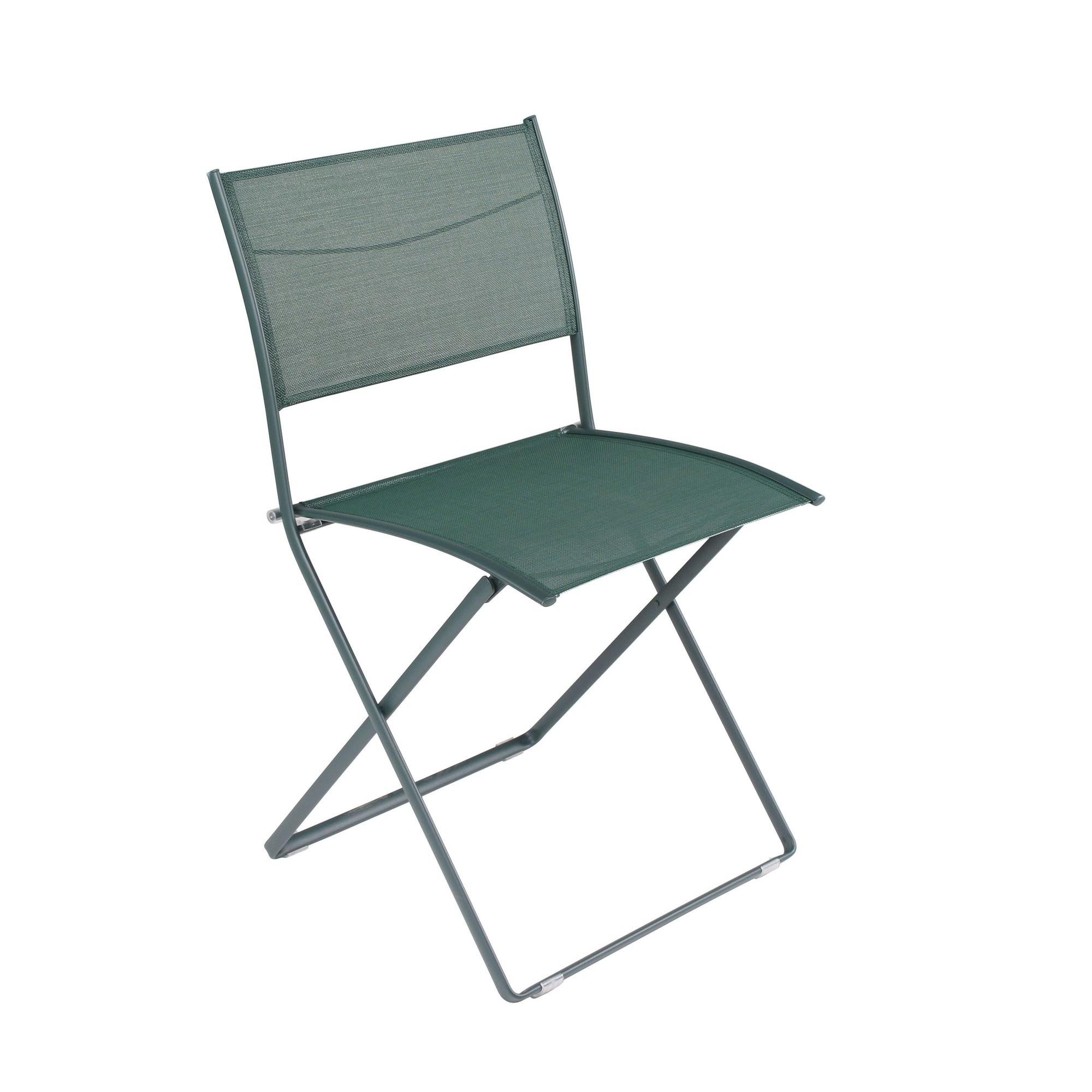 chaise pliante plein air de fermob c dre. Black Bedroom Furniture Sets. Home Design Ideas