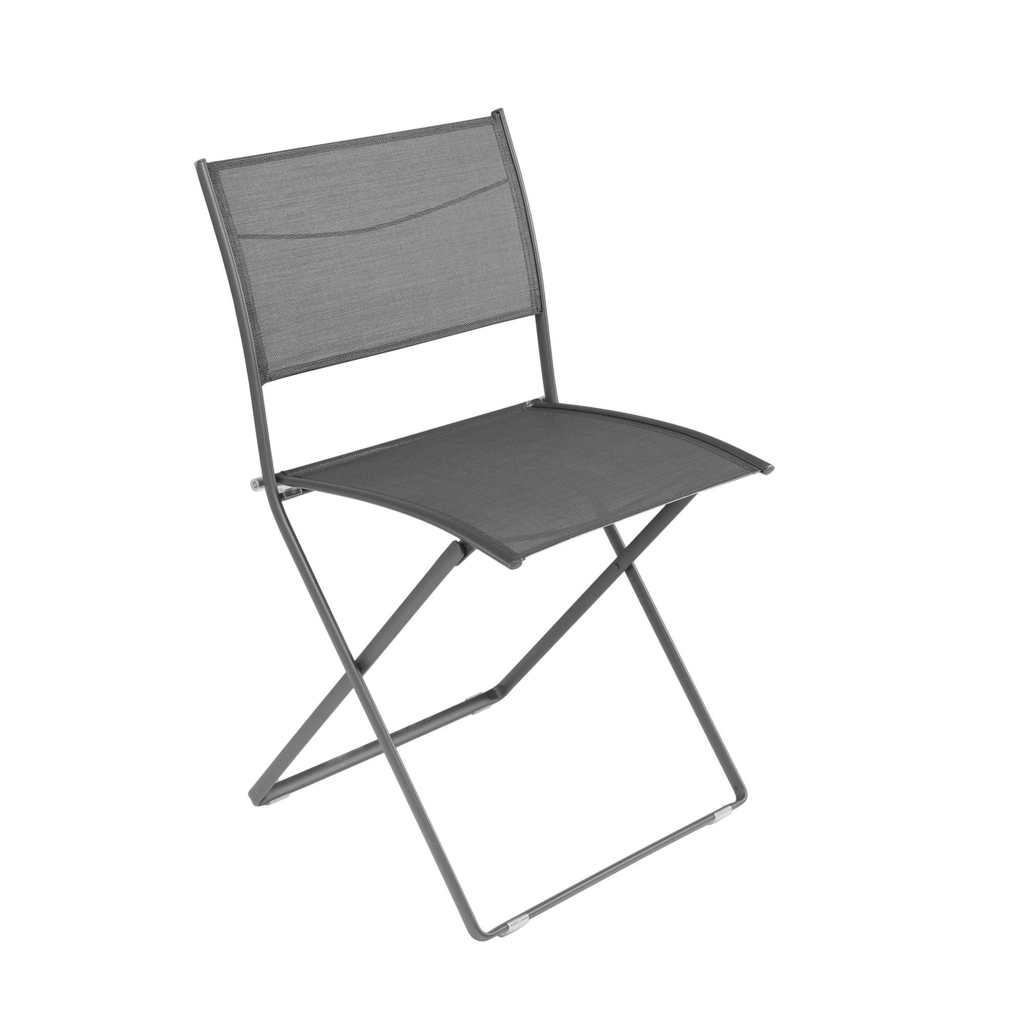 chaise pliante plein air de fermob gris orage. Black Bedroom Furniture Sets. Home Design Ideas