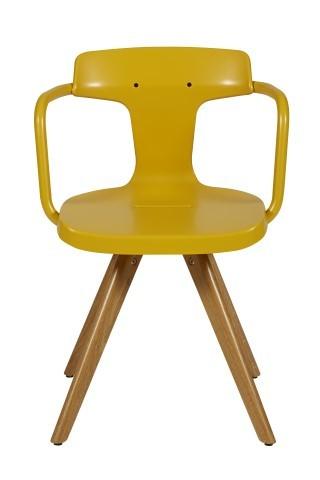 chaise t14 de tolix pieds ch ne jaune moutarde. Black Bedroom Furniture Sets. Home Design Ideas