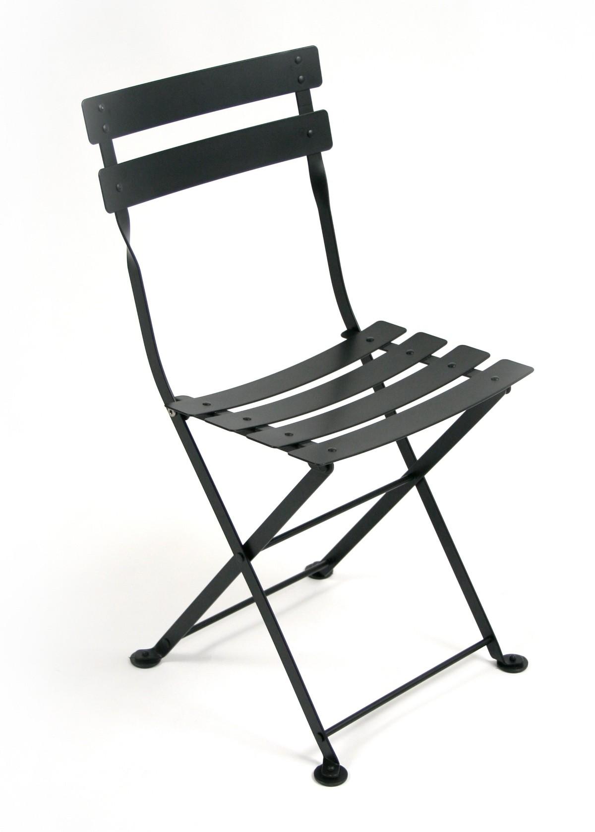 Chaise tom pouce de fermob noir r glisse - Fermob tom pouce ...