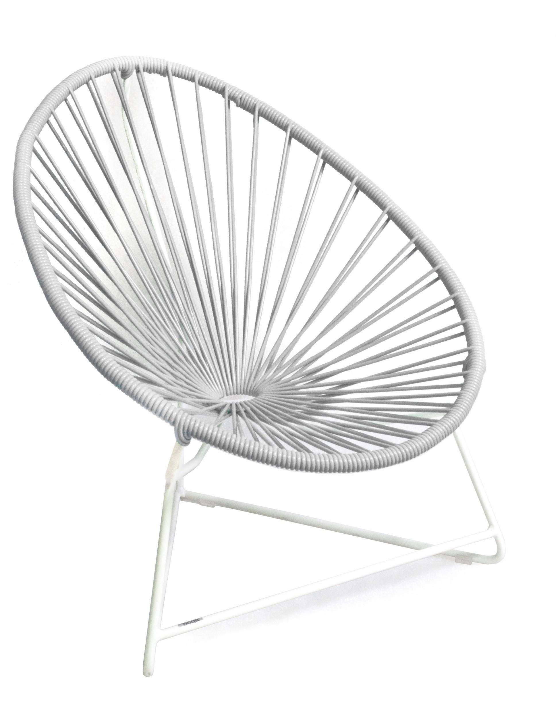 fauteuil acapulco enfant de boqa avec structure blanche blanc d 39 argent. Black Bedroom Furniture Sets. Home Design Ideas