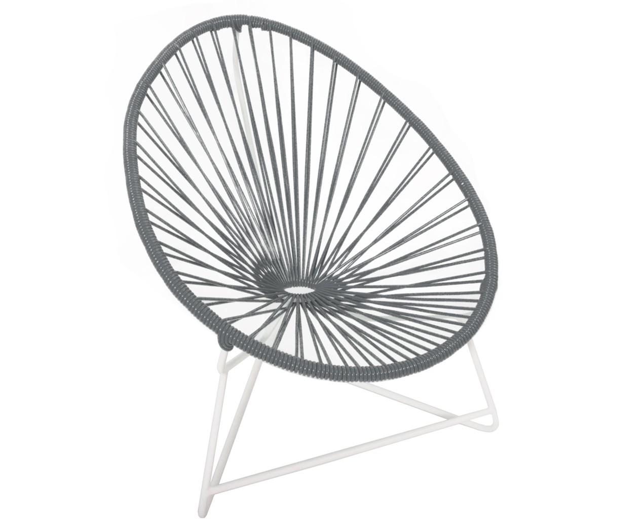 fauteuil acapulco enfant de boqa avec structure blanche gris fer. Black Bedroom Furniture Sets. Home Design Ideas