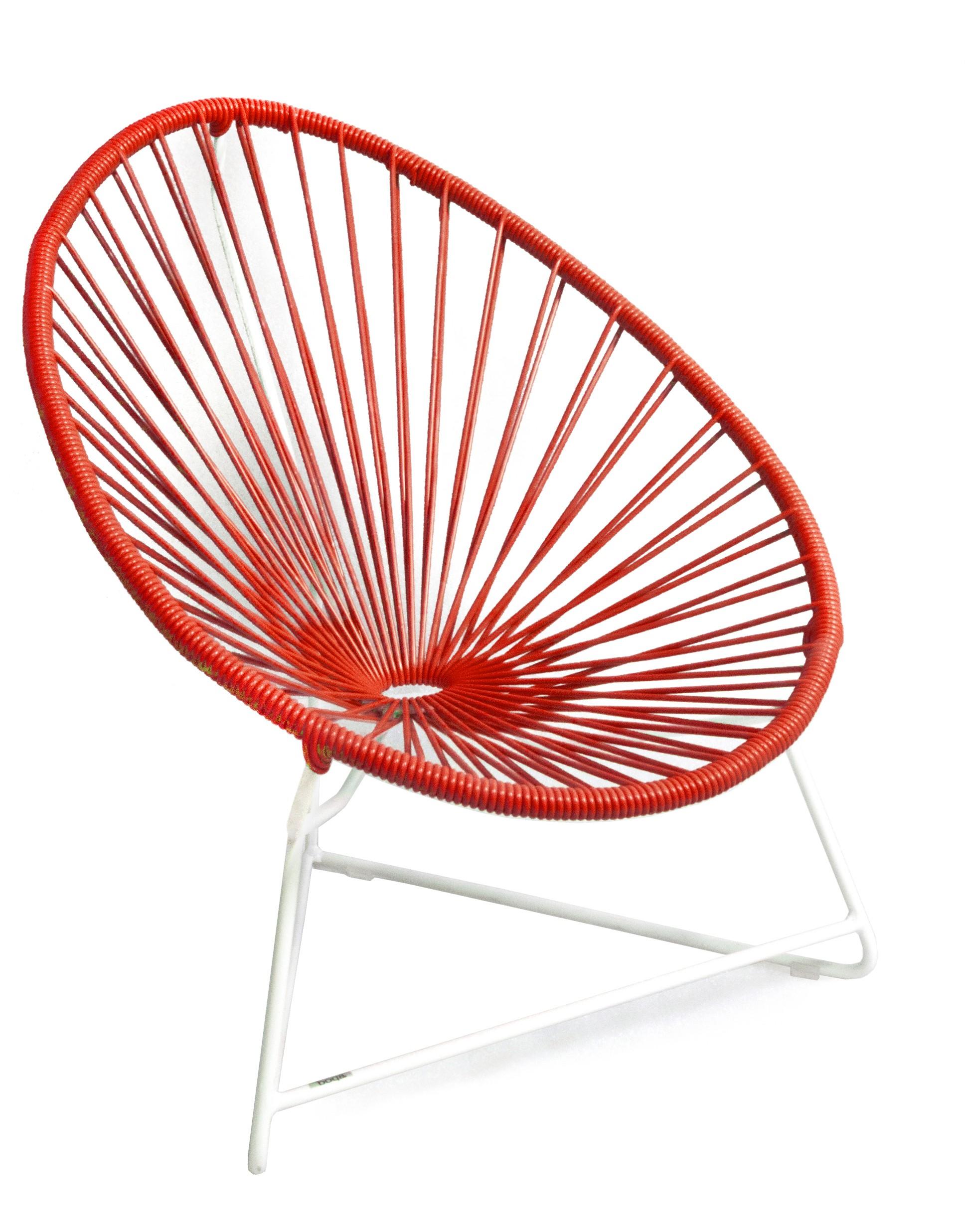 fauteuil acapulco enfant de boqa avec structure blanche rouge de mars. Black Bedroom Furniture Sets. Home Design Ideas