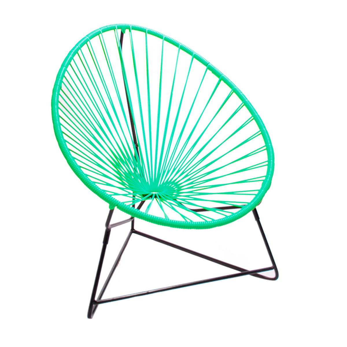 Fauteuil ACAPULCO ENFANT De Boqa Avec Structure Noire Vert Turquoise