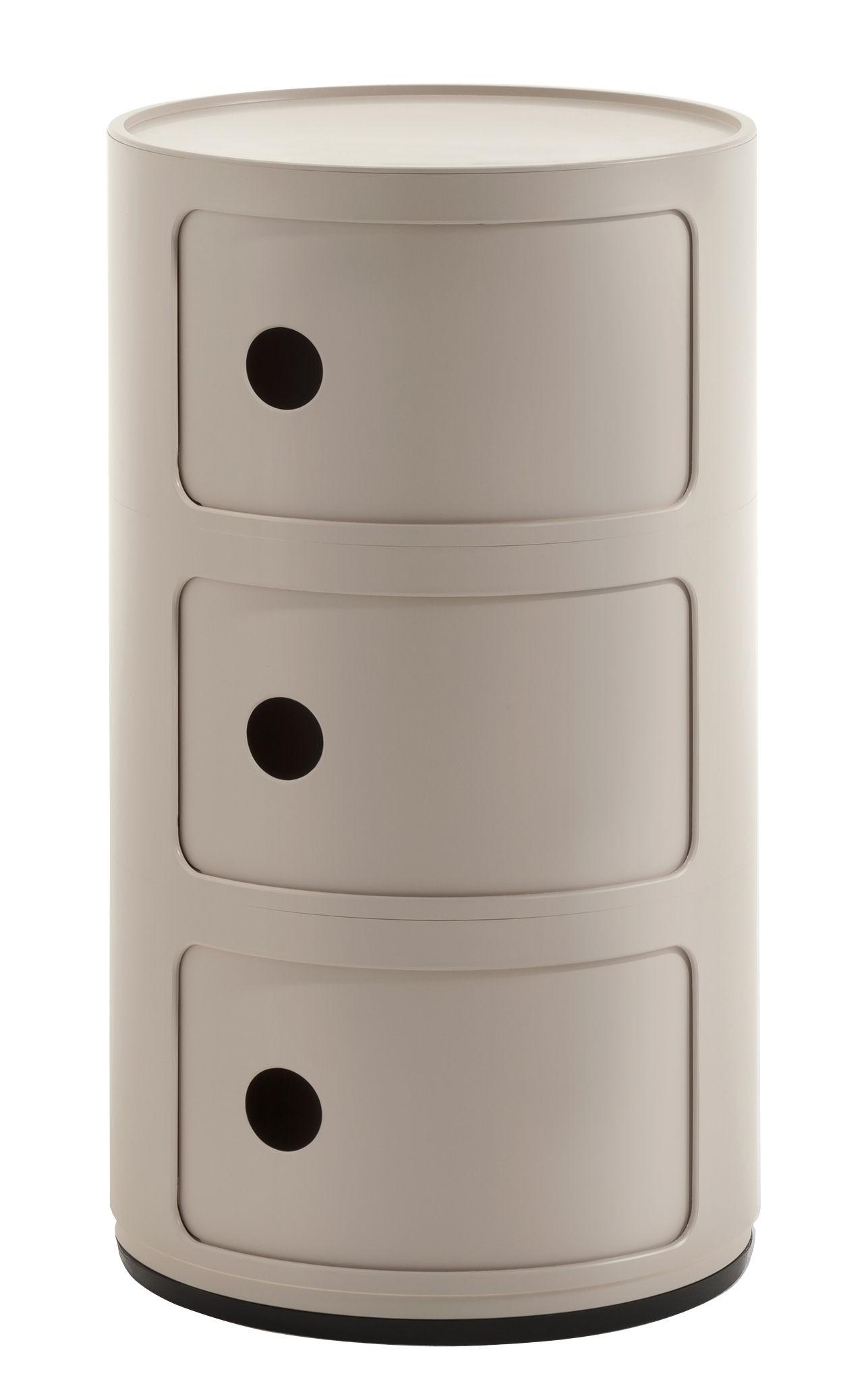 Table De Chevet Componibili meuble de rangement componibili bio de kartell, crème