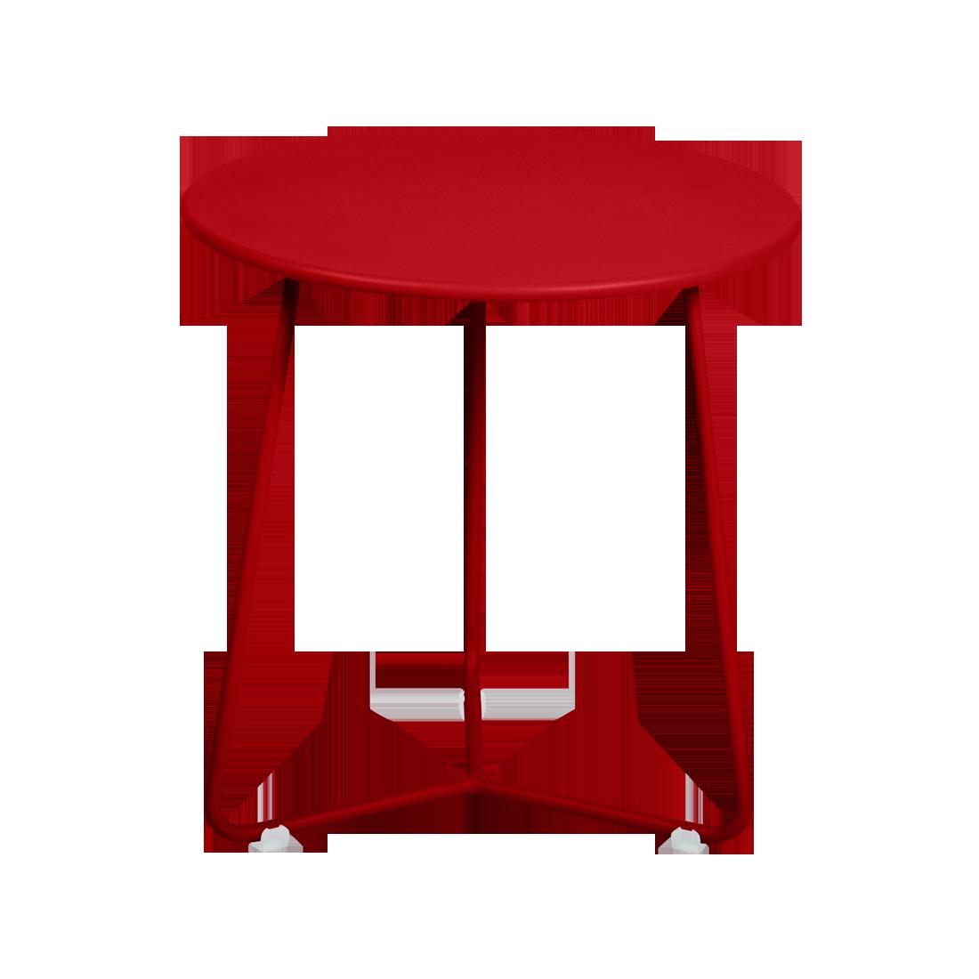table d 39 appoint tabouret bas cocotte de fermob coquelicot. Black Bedroom Furniture Sets. Home Design Ideas
