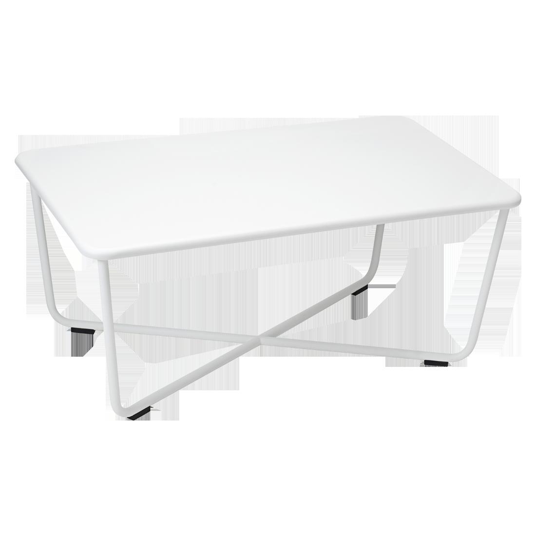 Table basse croisette de fermob blanc coton - Table basse fermob ...