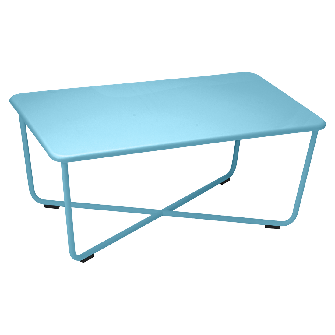 table basse croisette de fermob bleu turquoise. Black Bedroom Furniture Sets. Home Design Ideas