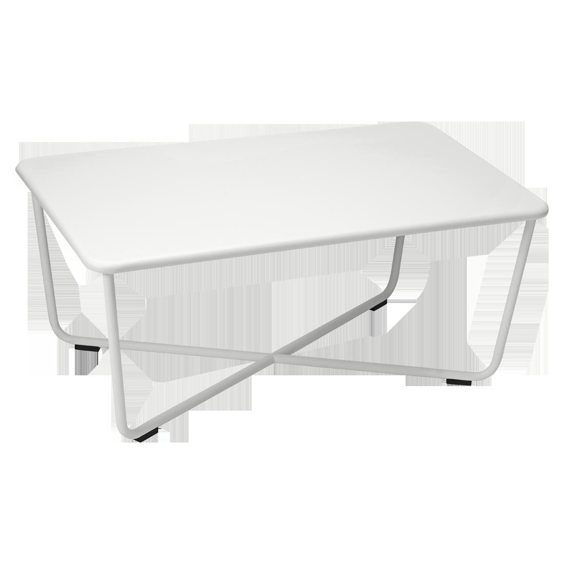 table basse croisette de fermob gris m tal. Black Bedroom Furniture Sets. Home Design Ideas