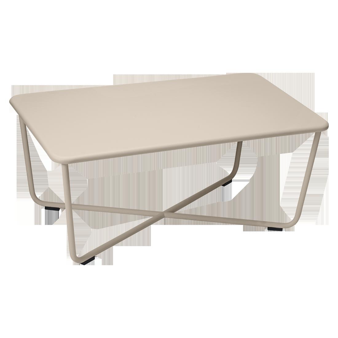 Table basse croisette de fermob muscade - Table basse fermob ...