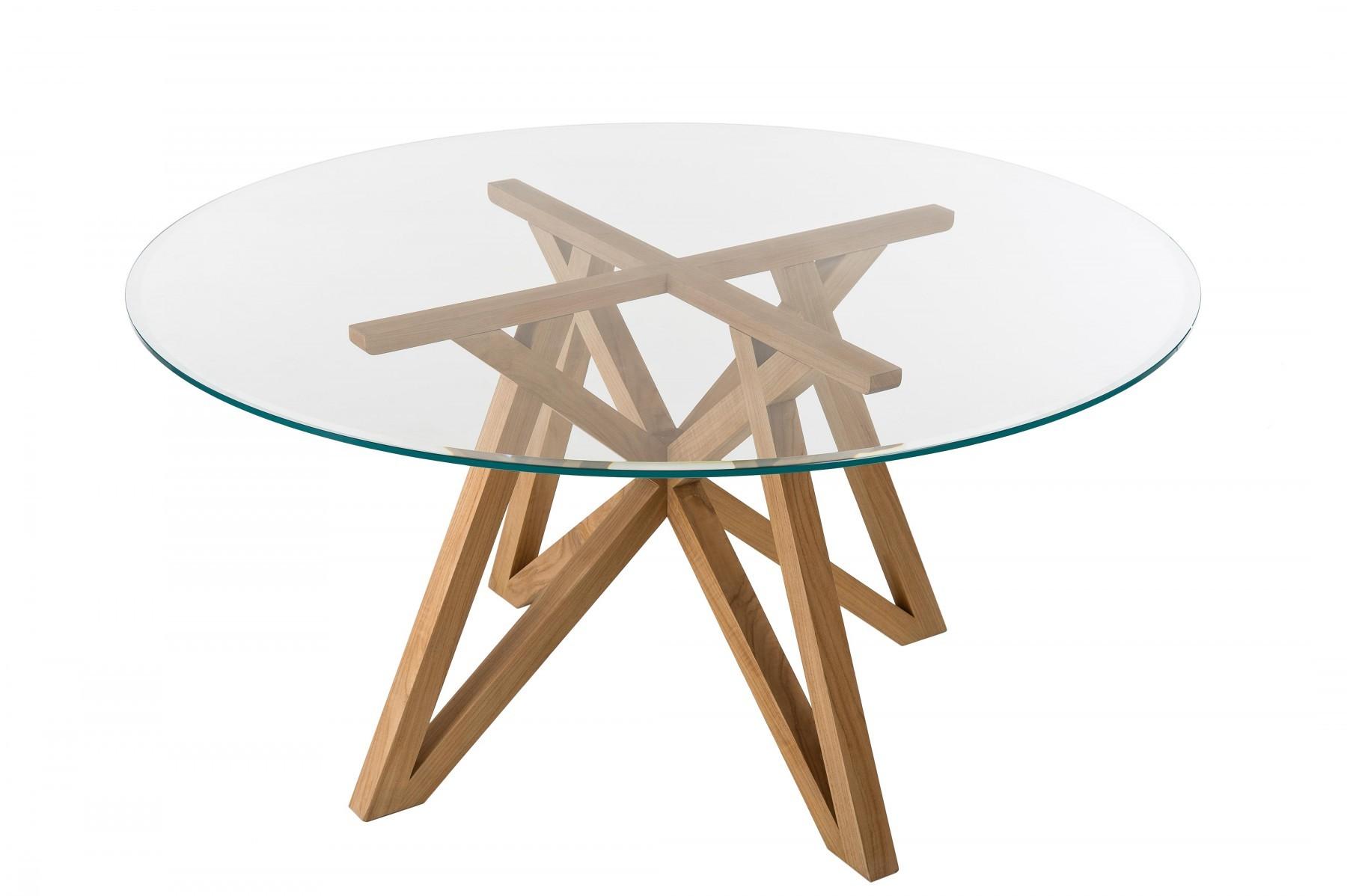 Table CROISETTE en verre de Unopiu\'